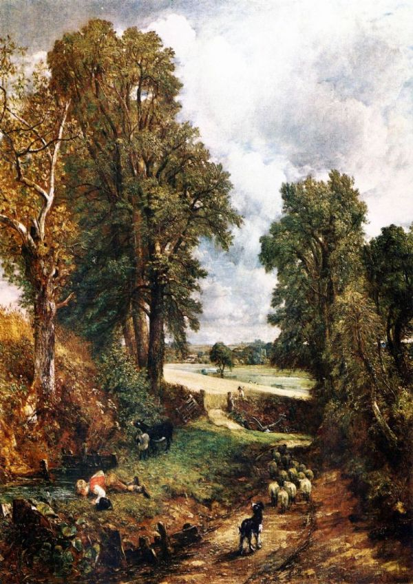 Constable, John: The Cornfield. Fine Art Print/Poster. Sizes: A4/A3/A2/A1 (001733)